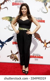 "America Ferrera at the Los Angeles Premiere of ""How To Train Your Dragon"" held at the Gibson Amphitheater in Universal Studios, United States on March 21, 2010."