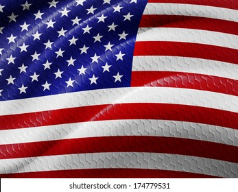 America  flag and abstract background