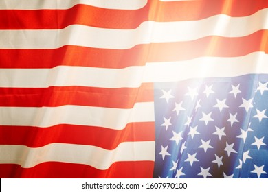 america flag with copyspace for national holiday Presidents day concept Martin Luther King day concept