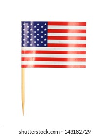 America flag toothpick isolated on white background