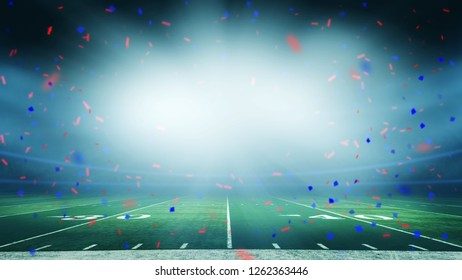 America football field championship win celebration