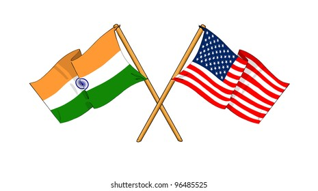 America and India alliance and friendship