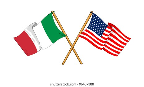 America and Italy alliance and friendship