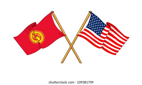 America and Kyrgyzstan alliance and friendship