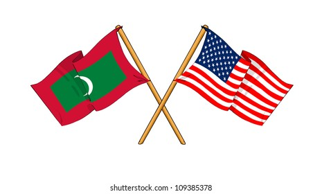 America and Maldives alliance and friendship