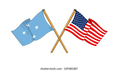 America and Micronesia alliance and friendship