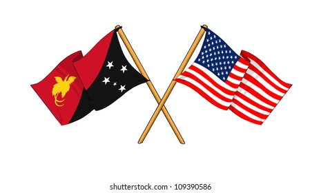America and Papua New Guinea alliance and friendship