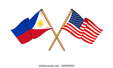 America and Philippines alliance and friendship