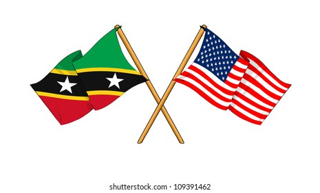 America and Saint Kitts and Nevis alliance and friendship