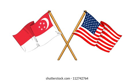 America and Singapore alliance and friendship