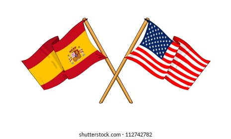 America and Spain alliance and friendship