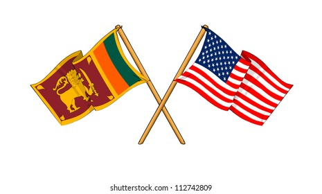 America and Sri Lanka alliance and friendship