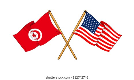America and Tunisia alliance and friendship