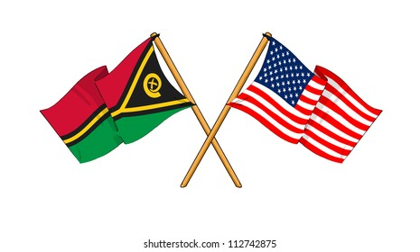 America and Vanuatu alliance and friendship