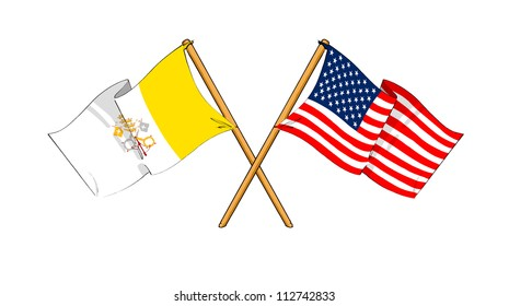 America and Vatican City alliance and friendship