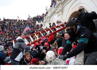 America,7 January 2021:In this picture America shaken after pro trump mob storms has shown in US capital building  ( selectively focused ) (blur)