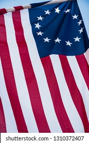 American 13 stars historic flag often named the Betsy Ross flag,