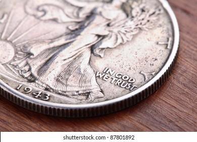 American 1943 Walking Liberty Half Dollar silver Coin
