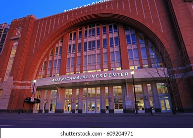 AMERICAN AIRLINES CENTER DALLAS MARCH 2017: The AAC is a multi-purpose arena, used for sports and concerts. It is located in Victory Park near downtown Dallas, Texas. and opened in 2001. 3-17-2017