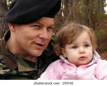 american army soldier with baby