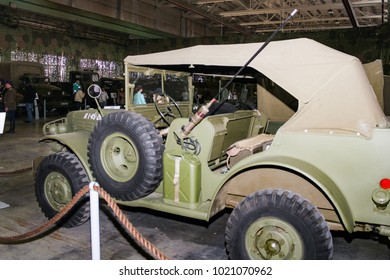 American Army SUV. St. Petersburg, Russia - 7 May, 2017. Automobiles and vehicles of the war years presented at the Lenrezerv exhibition.