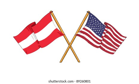 American and Austrian alliance and friendship