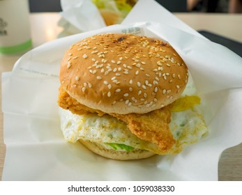 American cheese chicken burger