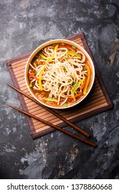 American chop suey/ chopsuey is a popular indochinese food. served in a bowl with chop sticks. selective focus