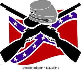 American Civil War. Confederacy. raster variant