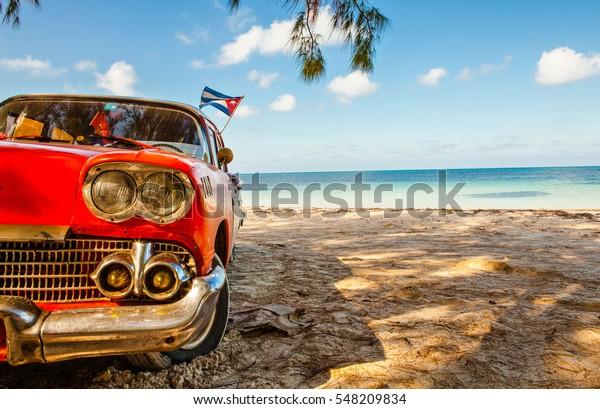 Amerikanischer Klassiker am Strand Cayo Jutias, Provinz Pinar del Rio, Kuba