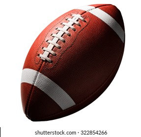 American college high school junior football isolated on white background