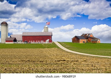American Country with blue sky