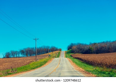 American Country Road in Fall