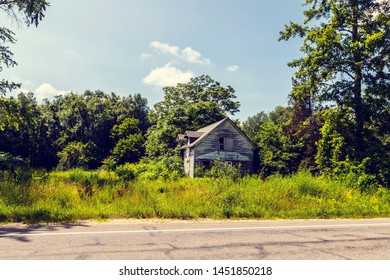American Country Road with Old House (Side View)