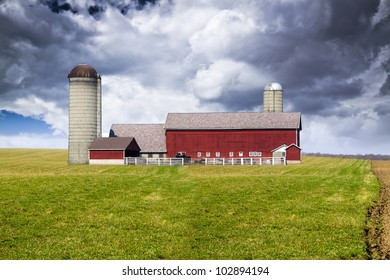 American Country with stormy sky