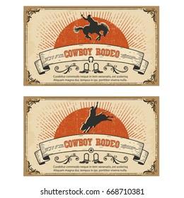 American Cowboy wild horse rodeo.Raster