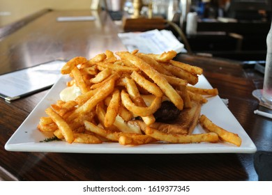 american diner food including fries