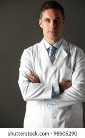 American doctor studio portrait