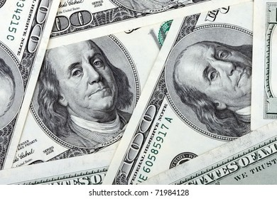 american dollars banknote of hundreds