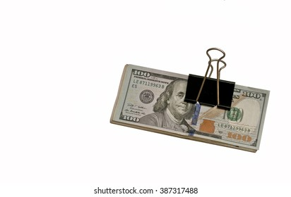 American dollars / American dollars isolated on white background
