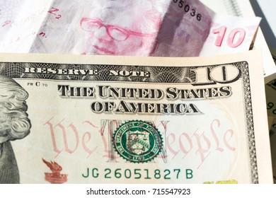 American dollars and Turkish lira in small denominations