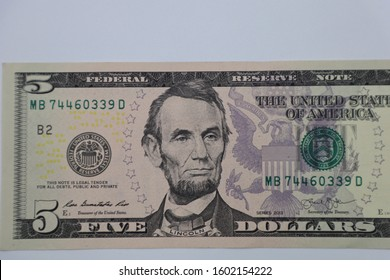 American Dollor, USD $ isolated with white background.