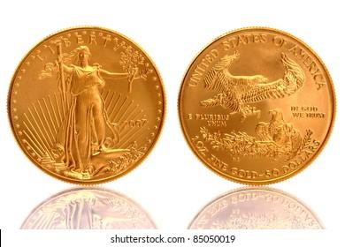American Eagle $50 Gold Coin 1 oz Fine Gold