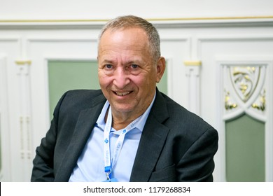 American economist, former Vice President of Development Economics and Chief Economist of the World Bank Lawrence Summers  during a visit to Kyiv, Ukraine. 13-09-2018