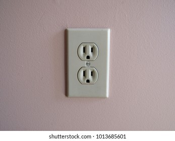 American electrical outlet on wall