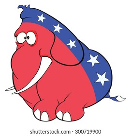 The American elephant. The elephant party