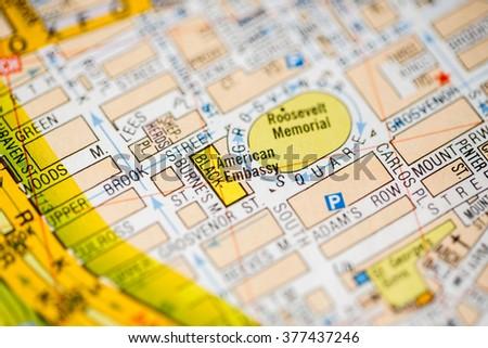 American Embassy London Uk Map Stock Photo Edit Now 377437246 - Us-embassy-london-map
