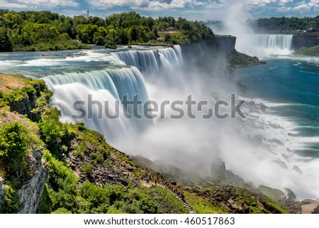 American Falls Bridal Veil Falls Niagara Stock Photo Edit Now