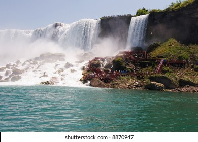American Falls from a tour boat