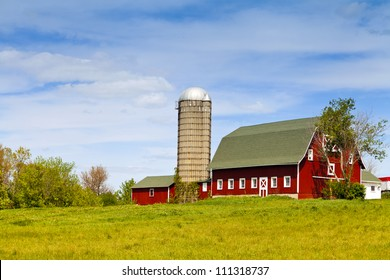 American Farm With Blue Sky